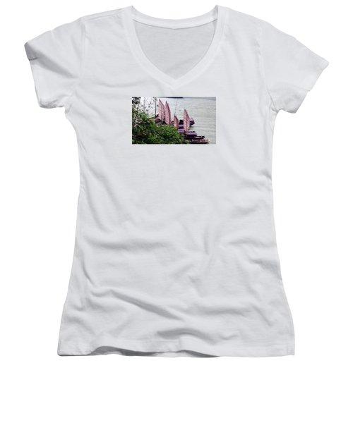 Yangtze Boats Women's V-Neck T-Shirt