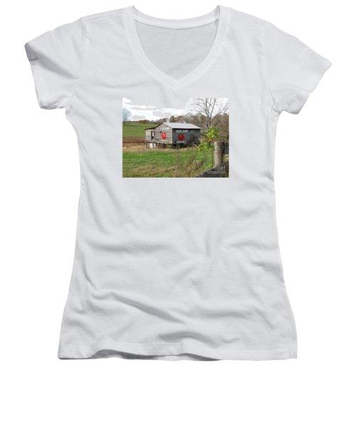 Ye Olde Tomato Barn Women's V-Neck T-Shirt