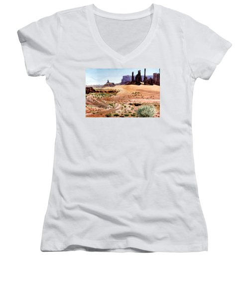 Yei Bi Chei And Totem Poles Women's V-Neck (Athletic Fit)