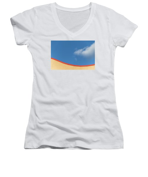 Yellow And Blue - Women's V-Neck T-Shirt