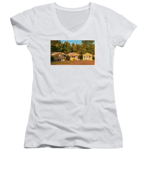 Yellow Cabins Women's V-Neck T-Shirt