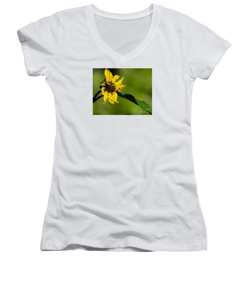 Yellow Flower 1 Women's V-Neck (Athletic Fit)