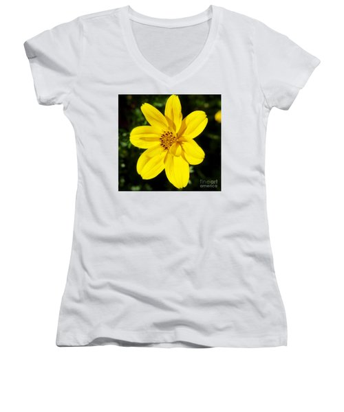 Yellow Flower Women's V-Neck
