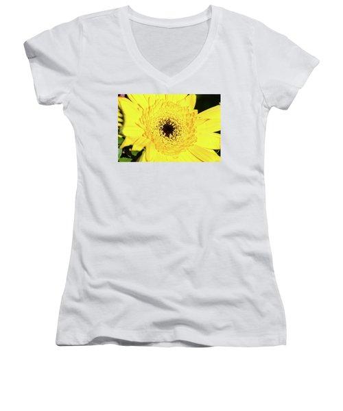 Yellow Pedal Women's V-Neck T-Shirt