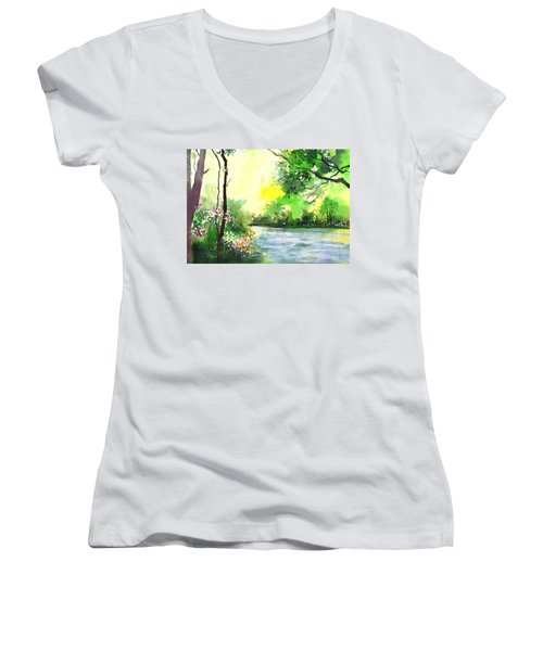 Yellow Sky Women's V-Neck