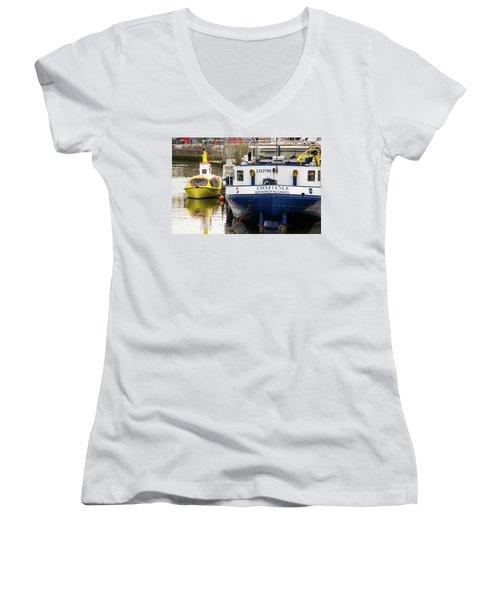 Yellow Submarine Women's V-Neck T-Shirt
