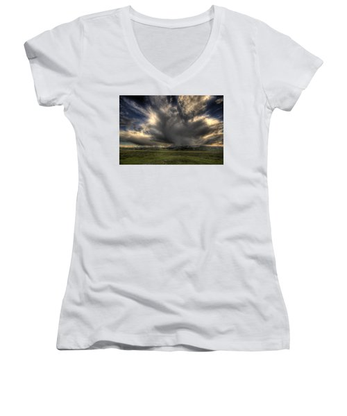 Yellowstone Storm Women's V-Neck