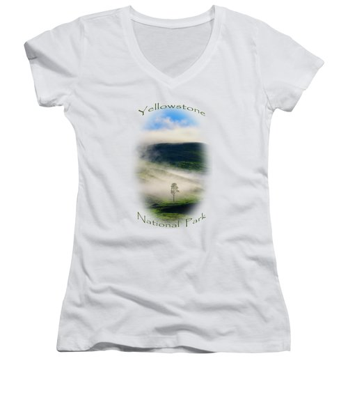 Yellowstone T-shirt Women's V-Neck (Athletic Fit)