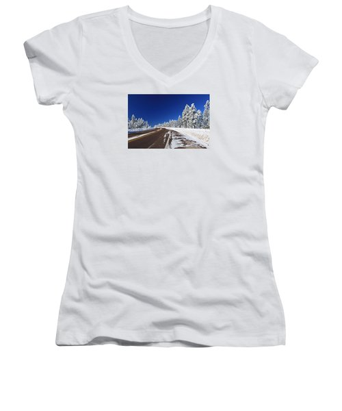 Women's V-Neck T-Shirt (Junior Cut) featuring the photograph Yes Its Arizona by Gary Kaylor