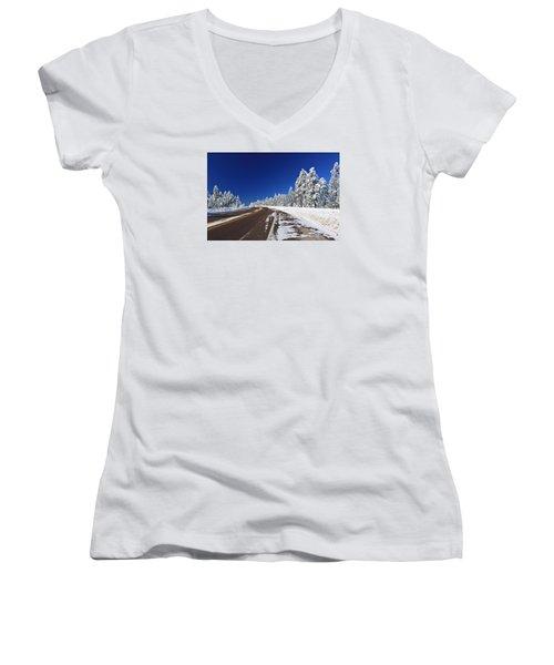 Yes Its Arizona Women's V-Neck T-Shirt (Junior Cut) by Gary Kaylor
