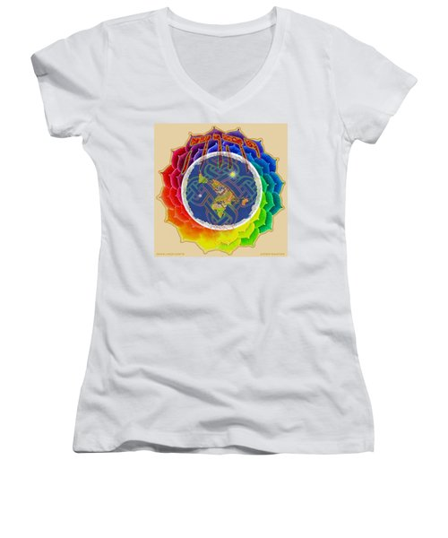 Yhwh Covers Earth Women's V-Neck