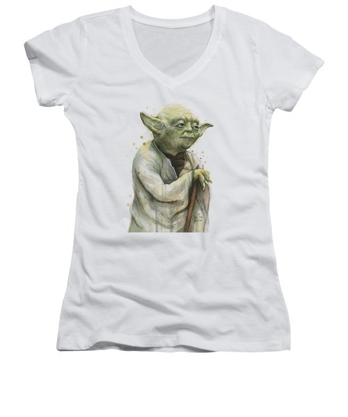 Yoda Portrait Women's V-Neck (Athletic Fit)