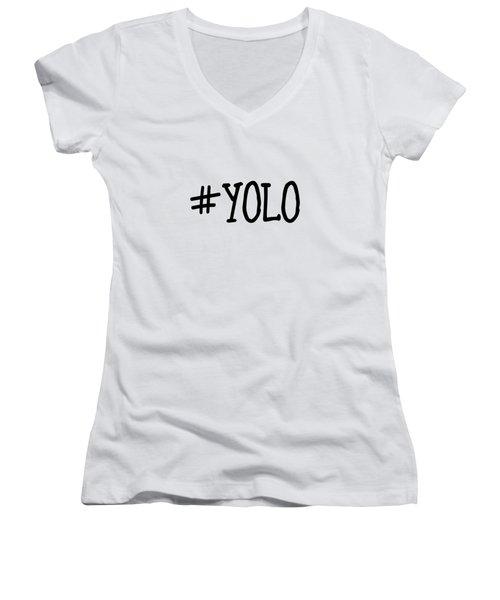 #yolo Women's V-Neck (Athletic Fit)