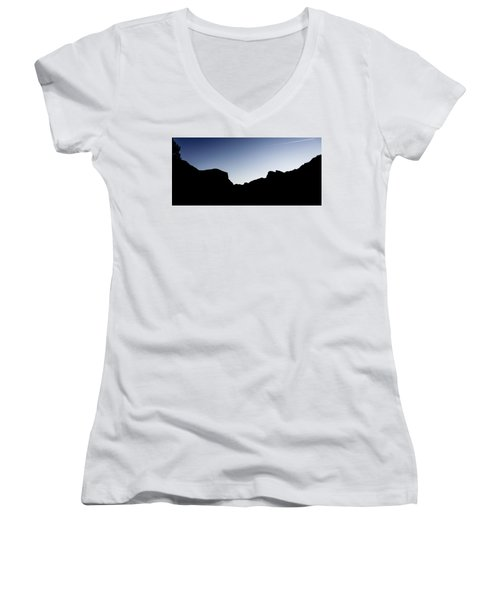 Yosemite In Silhouette Women's V-Neck