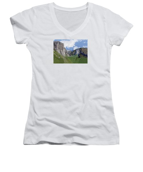 Yosemite Tunnel View Women's V-Neck