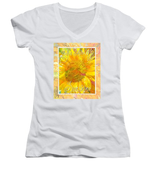 You Are My Sunshine 2 Women's V-Neck