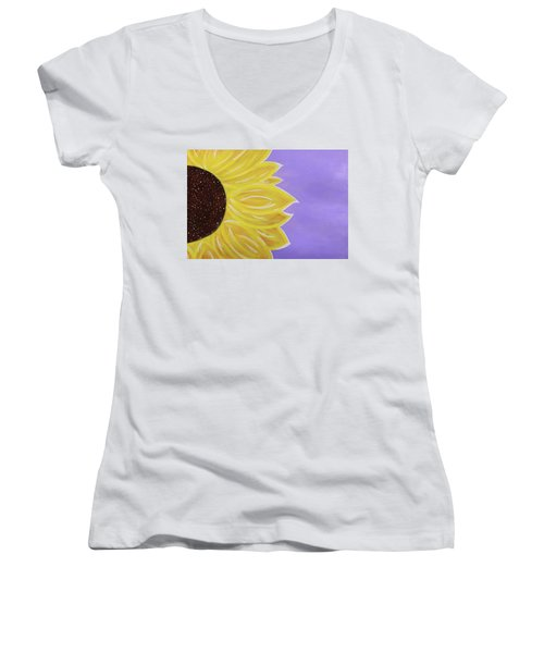 You Are My Sunshine Women's V-Neck T-Shirt (Junior Cut) by Cyrionna The Cyerial Artist