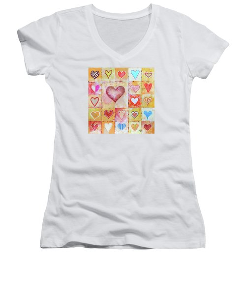 You Can Only See Clearly With Your Heart Women's V-Neck
