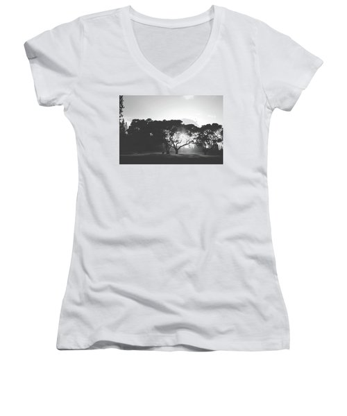Women's V-Neck T-Shirt (Junior Cut) featuring the photograph You Inspire by Laurie Search