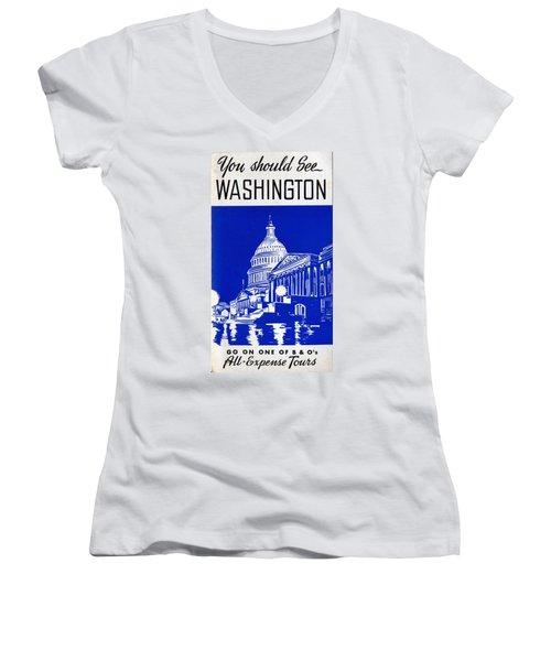 You Should See Washington Women's V-Neck