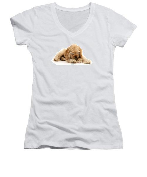 You'll Be Fine, Little Guy Women's V-Neck T-Shirt