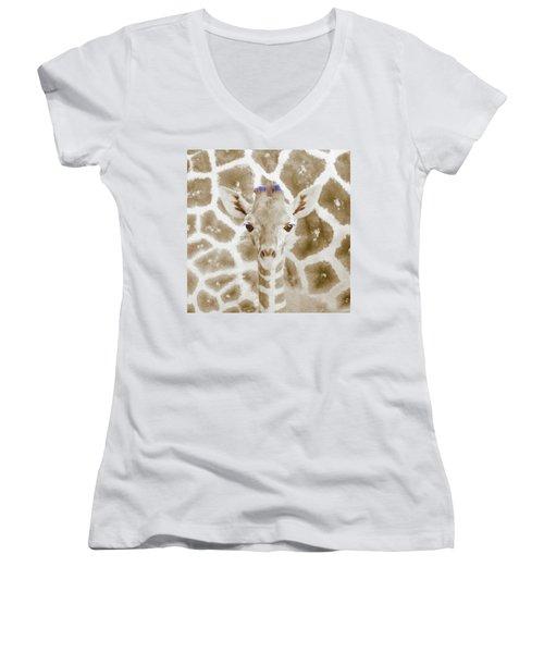Young Giraffe Women's V-Neck