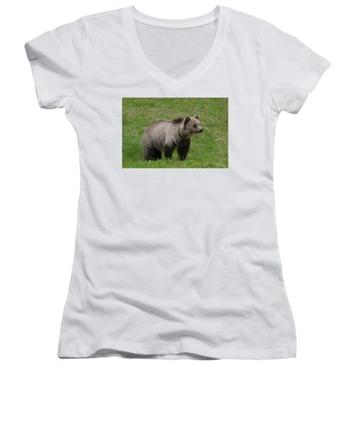 Young Grizzly Women's V-Neck