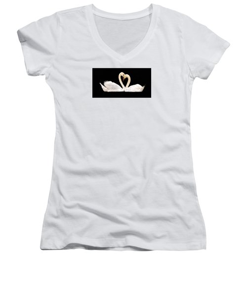 Young Love Women's V-Neck T-Shirt (Junior Cut) by Cathy Donohoue