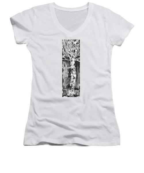 Youth Women's V-Neck T-Shirt (Junior Cut) by Carol Rashawnna Williams