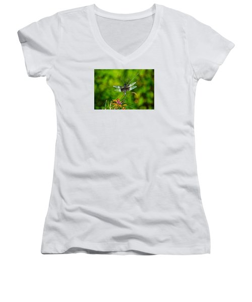 Zen Dragonfly 2 Women's V-Neck T-Shirt