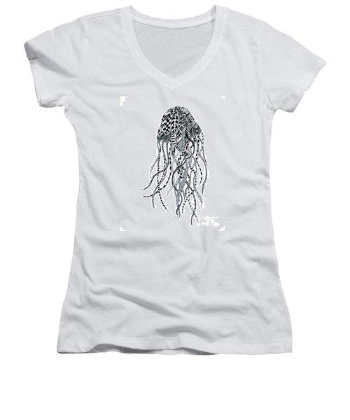 Zen Jellyfish Women's V-Neck