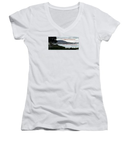 Zeppelin Gratitude Women's V-Neck T-Shirt (Junior Cut) by David Norman