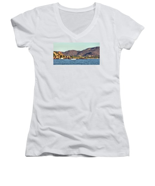 Zihuatanejo Bay Women's V-Neck T-Shirt