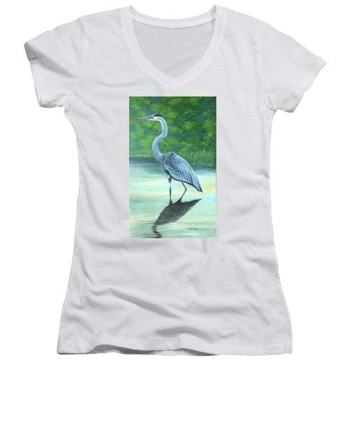 Blue Heron Women's V-Neck