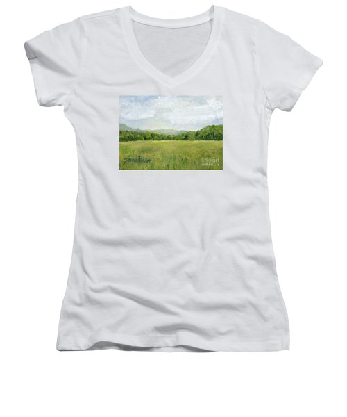 Fields Meet Mountains Women's V-Neck