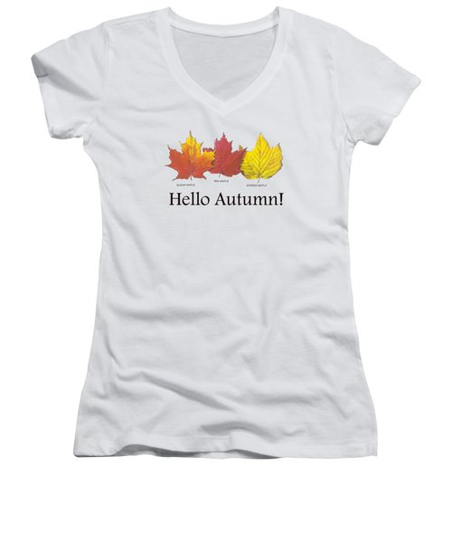 Hello Autumn Women's V-Neck