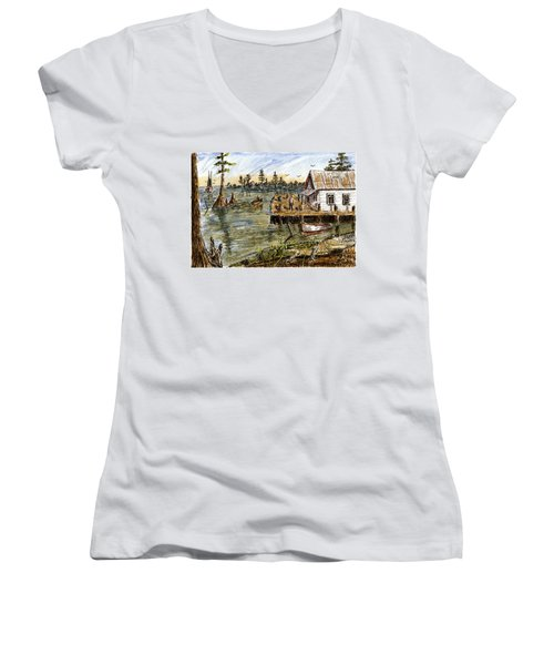 In The Swamp Women's V-Neck