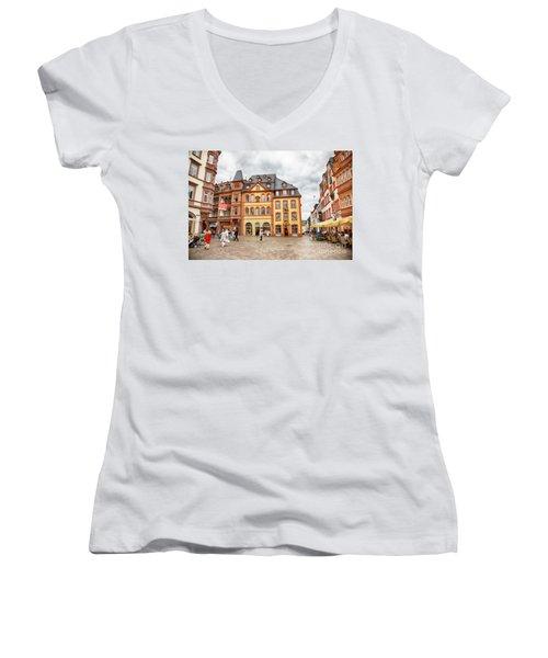 Trier, Germany,  People By Market Day Women's V-Neck