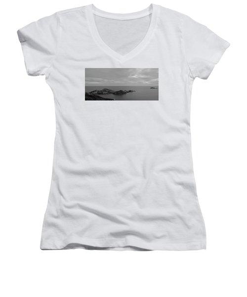 Dawn In Black And White In The Cap De Creus Women's V-Neck