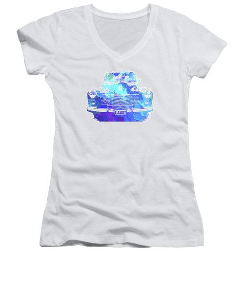 1941 Cadillac Front Abs Blue Women's V-Neck