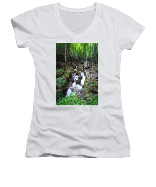 Bela River, Balkan Mountain Women's V-Neck