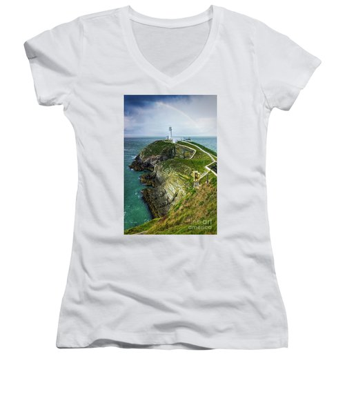 South Stack Lighthouse Women's V-Neck