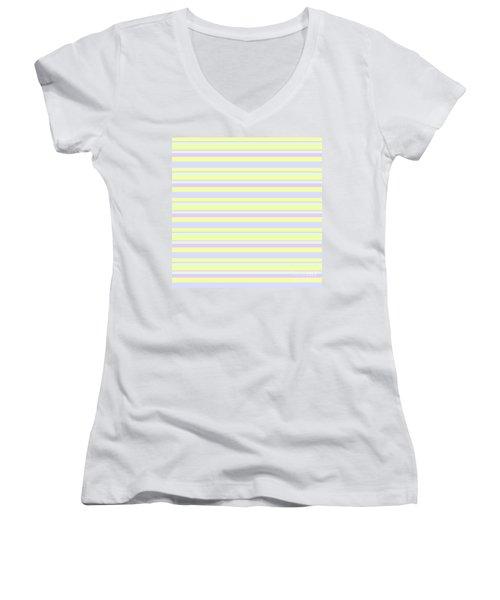 Abstract Horizontal Fresh Lines Background - Dde596 Women's V-Neck