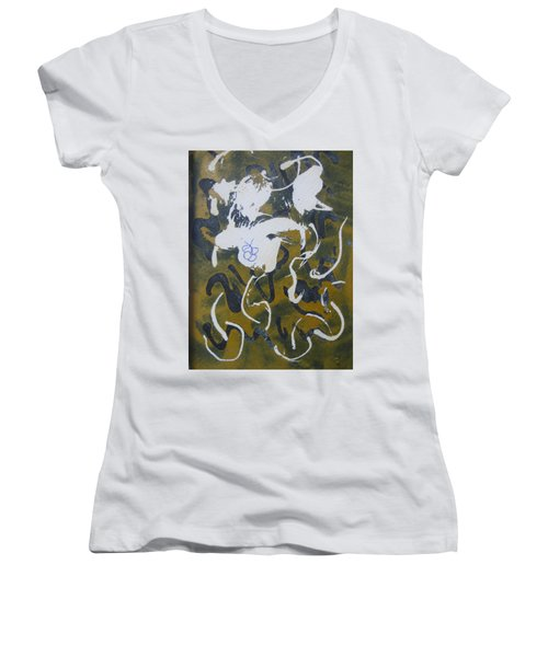 Abstract Human Figure Women's V-Neck
