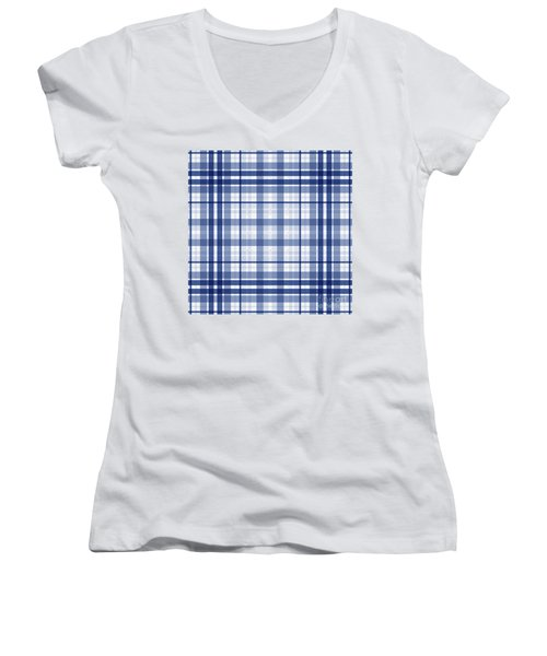 Abstract Squares And Lines Background - Dde611 Women's V-Neck