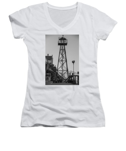 Alcatraz Light House Women's V-Neck