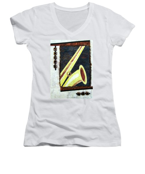 All That Jazz Saxophone Women's V-Neck