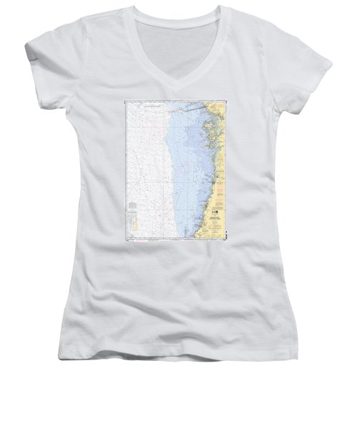 Anclote Keys To Crystal River Noaa Nautical Chart 11409 Women's V-Neck