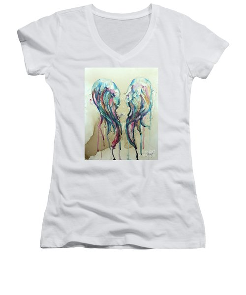 Angel Wings Women's V-Neck
