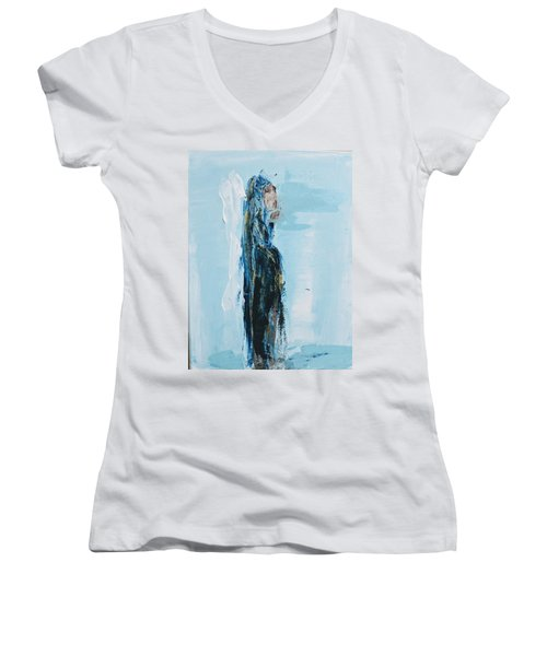 Angel With Child Women's V-Neck